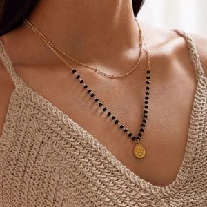 Jewelry - BOGO Gold Beaded Necklace Coin Pendent Layered